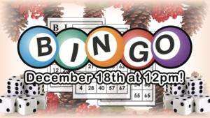 Join us on Zoom for Christmas Bingo