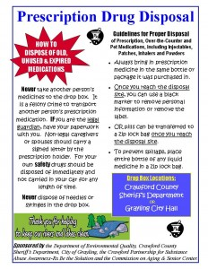 DEQ Drug Disposal Flyer
