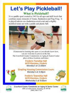 Pickleball 2016