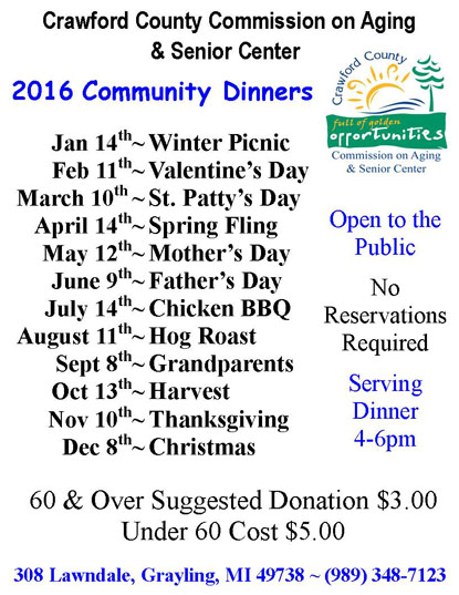 Special Dinners 2016