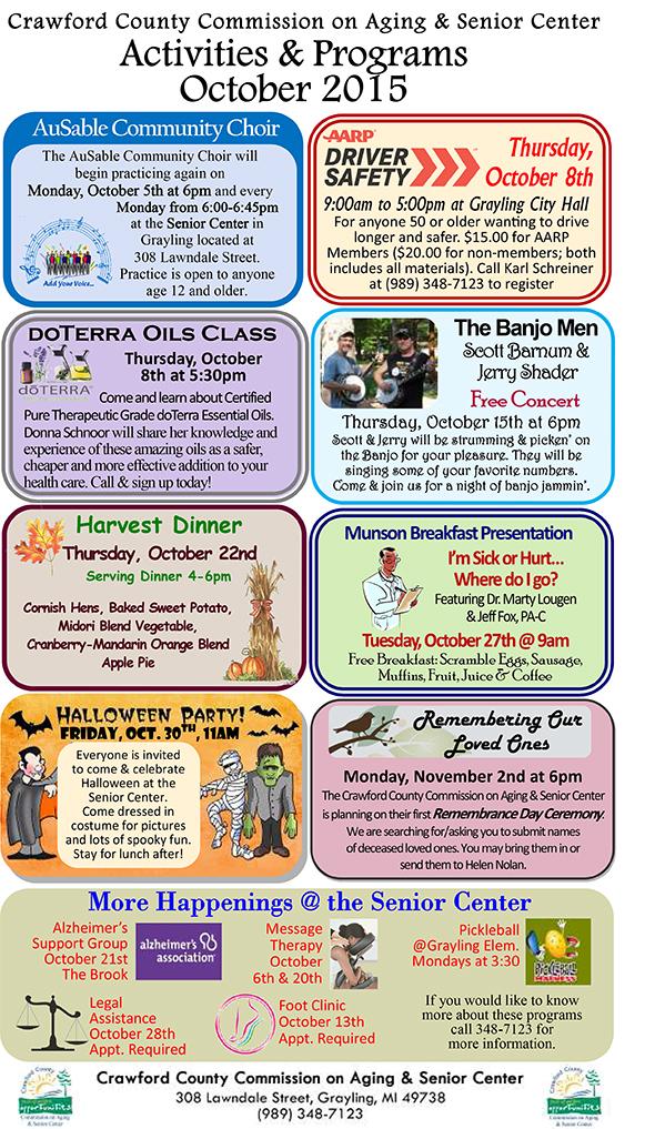 Activities & Programs October 2015